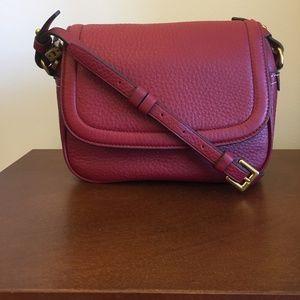 J.Crew Signet flap bag, Italian leather, burgundy